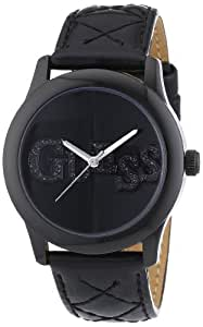 Guess - W70040L2 - Montre Femme - Quartz Analogique - Cadran Noir - Bracelet Cuir Noir