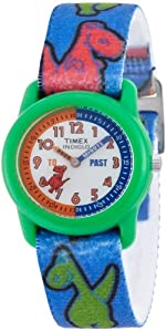Timex T7B1214E Boys Dinosaur Time Teacher Fabric Strap Watch