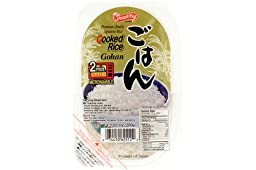 Cooked Rice (Microwavable in 2 Minutes/gohan) - 7.05oz (Pack of 12)