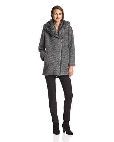Vince Camuto Women's Sweater Coat with Faux Fur