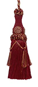 "Decorative 7"" Key Tassel / Burgundy Taupe / Baroque Collection Style# BKT Color: CRANBERRY HARVEST - 8612"