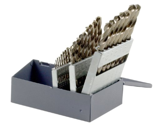 Bosch CO4029 Cobalt Twist Drill Bit Assortment with Metal Index, 29-Piece