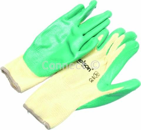 Rolson Latex Coated Builders Gloves (Rolson tools, Accessory) Combined polycotton and latex gloves with latex coated palms and fingertips.