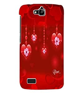 ColourCraft Love Dangling Hearts Design Back Case Cover for HUAWEI HONOR HOLLY