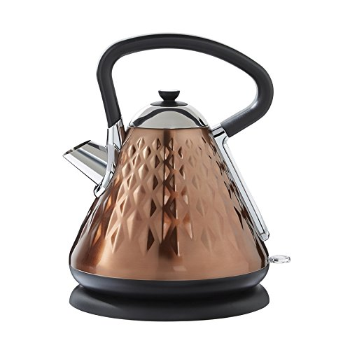 EGL Copper Diamond Pyramid Kettle, 1.7 Litre Capacity, 3000 Watt