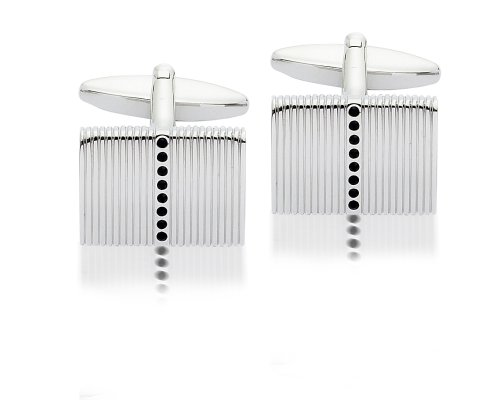 Crystal Black Cufflinks, Model 9921