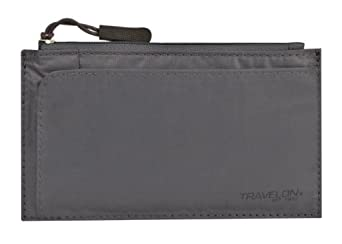 Travelon Luggage Safe Id Credit Card Wallet, Off Black, One Size