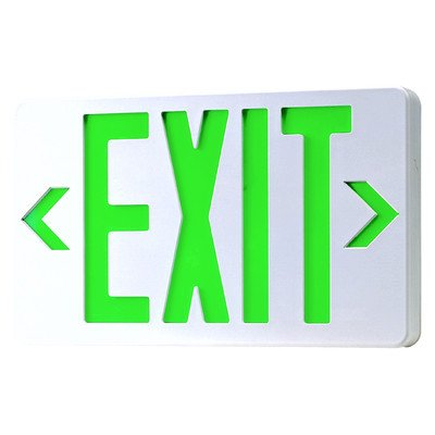 Royal Pacific RXL5GW LED Exit Sign, White with Green Letters