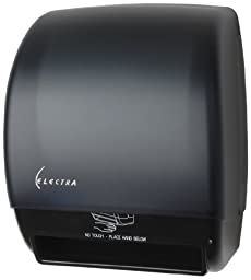 Palmer Fixture TD0246-02 Electra AC Touchless Roll Towel Dispenser, Black Translucent