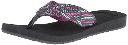Reef Women'S Sandy Love Flip Flop,Grey/Pink/Aqua,6 M Us