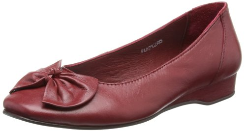 Lunar Womens Red Ballet Flats FLH712 5 UK, 38 EU