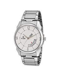 Vego Off White Color Analogue Watch For Men