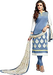 Shree Collection Blue cotton Dress Material