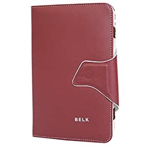 Jo Jo Belk Flip Flap Case Cover Pouch Carry For Bsnl Champion Wtab 705 - 2G Talk Cherry