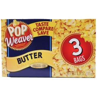 Pop Weaver Butter Flavor Microwave Popcorn, Net Wt. 6.50oz (184g) (Kenmore Pop compare prices)
