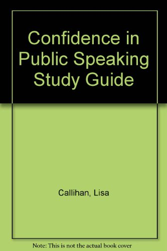 Confidence in Public Speaking Study Guide