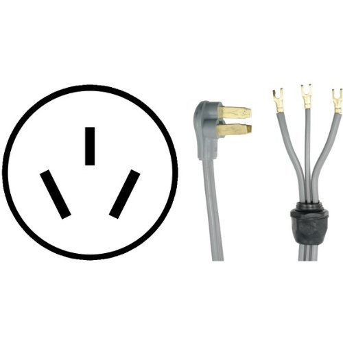 PETRA 90-1050QC 3-Wire Quick-Connect Range Cord, 4-Foot, 40A Open End Reviews
