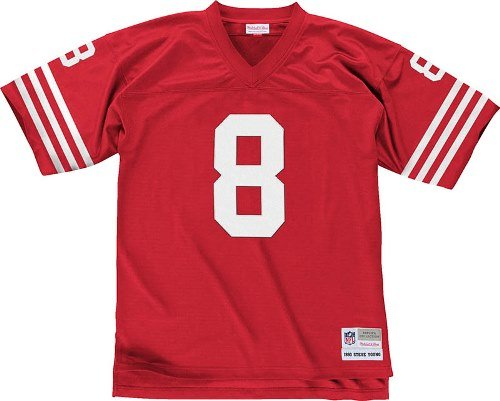 San Francisco 49ers Mitchell & Ness 1990 Steve Young #8 Replica Throwback Jersey (XL) at Amazon.com