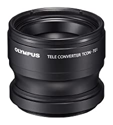 Olympus Telephoto Tough Lens Pack (lens and adapter) for TG-1 and TG-2 Cameras (Black with Red Adapter)