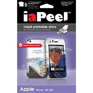 iaPeel Inkjet Printable Skins for iPhone 3G/3GS - Blank White