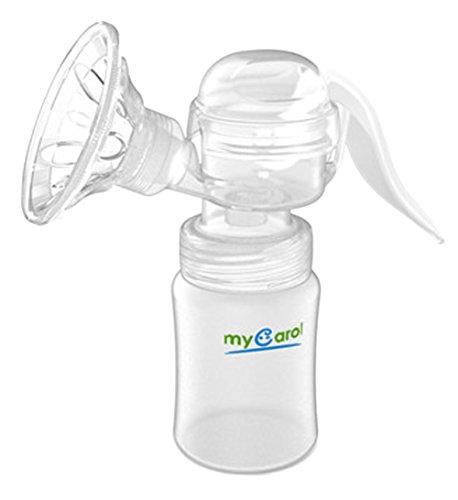 Ziweiba片手でらくらく やさしい手動式 さく乳器 ママらくハンド ベビーリズム 手動タイプ 快適に搾乳できる さく乳器 ホワイト 210ml