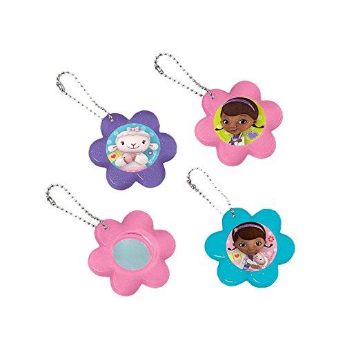 Amscan Doc McStuffins Flower Mirror Keychain Favors, Multicolor