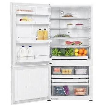 Fisher Paykel E522BLE 17.6 cu ft Bottom-Freezer Refrigerator - White with Left Hinge
