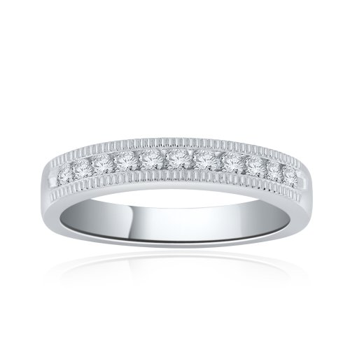 Sterling Silver Simulated Diamond Band