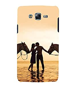 printtech Love Couple Horse Beach Back Case Cover for Samsung Galaxy Core 2 G355H