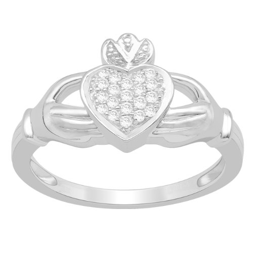 Sterling Silver 0.11cttw Diamond Fashion Promise Ring