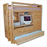 Tradewins Twin over Twin Loft Bunk Bed with desk
