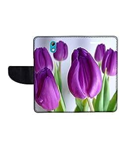 KolorEdge Printed Flip Cover For HTC Desire 526G Plus Multicolor - (50KeMLogo09830HTC526GPlus)