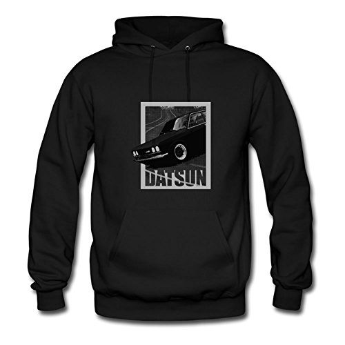 Stylish Regular Personalized Long-sleeve Datsun 510 Men Large Black Hoody (Datsun Hoodie compare prices)