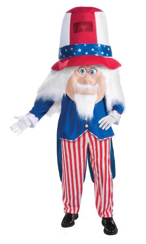 Forum Parade Pleasers Uncle Sam Costume, Red/Blue, Standard
