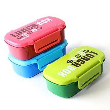 Zcl Plastic Colorized Lunch Box Color Random,20X11.5X7Cm