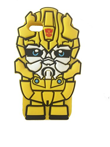 iBee dc Yellow Chevy Camaro Robot Transforms Costume Cartoon Style Cybertron Super Hero 3D Silicone Case for iphone5 5s By Asia Trendy (Chevrolet Robot compare prices)