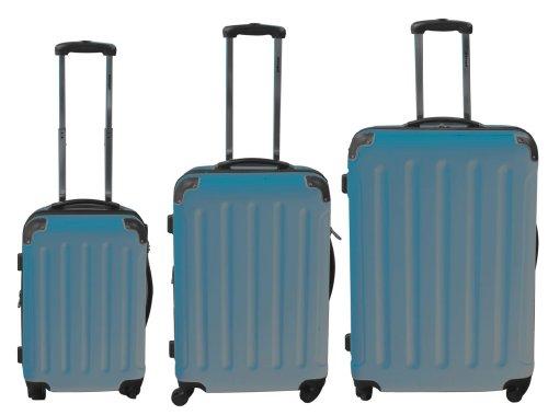 Polycarbonat Kofferset 3tlg mit ABS hellblau