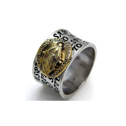 シルバーアクセサリー シルバーリング メンズ 指輪 メンズリング マリアリング r0457 【11号】