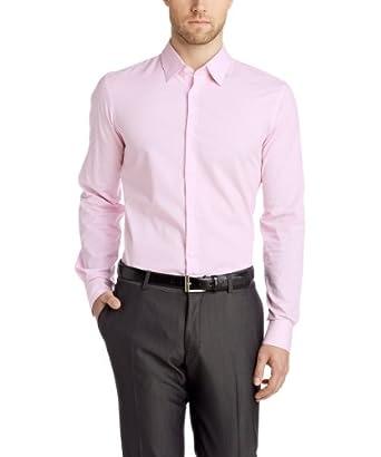 ESPRIT Collection Herren Slim Fit Businesshemd 044EO2F001, Gr. Kragenweite: 45 cm (Herstellergröße: 4546), Rosa (CHALKY PINK 696)