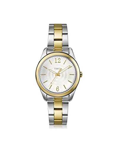 Timex Women's T2P188KW Ameritus Two-Tone Stainless Steel Watch with Link Bracelet