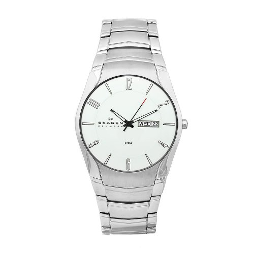 Skagen Mens Watch 531XLSXC with Silver Stainless Steel Bracelet and Silver Dial