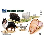 1/35 家畜セットNo.1・羊・豚・犬・猫
