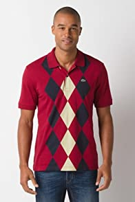 Glc Short Sleeve Jersey Diamond Pattern Polo