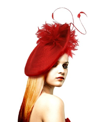 Profile Dish Fascinator Kentucky Derby - L64 White/black