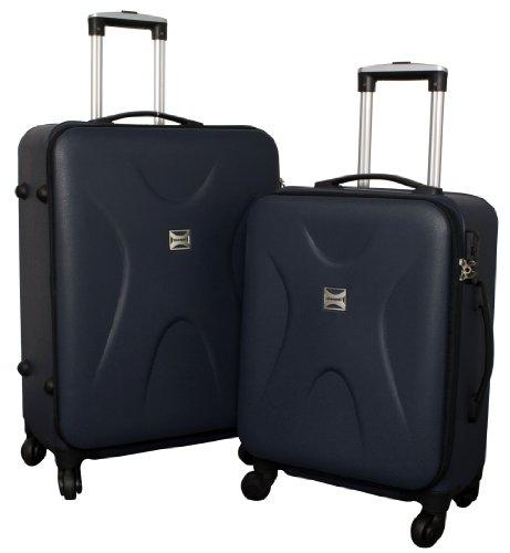 Trolley-Koffer-Set – 2-teilig – NAVY-BLAU – Superleicht