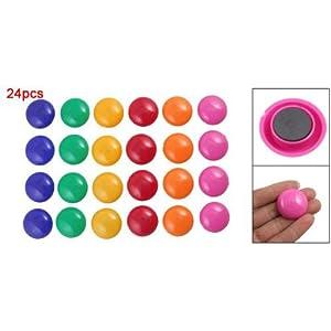 Lot de 24 couleurs de presentation rond pour tableau blanc magnetique