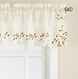 Lorraine Home Fashions Rosemary Tailored Valance, 58 by 12-Inch, Linen