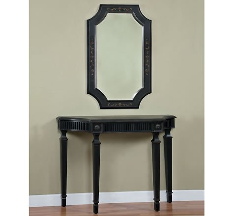 Cheap Black and Pecan Console Table (B000ZN4NFA)