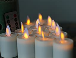 NONNO&ZGF 1.5-Inch-by-2.6-Inch Battery Operated Flameless LED Tea Lights Candles, Set of 12