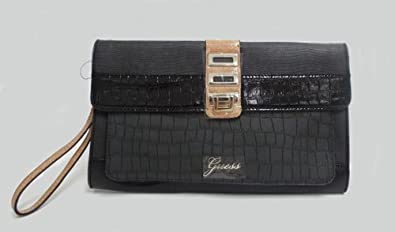 Guess Neta Wristlet Clutch Black Multi, SG376927